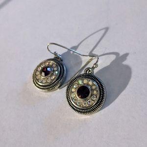 Lia Sophia cut crystal pink clear cookie earrings
